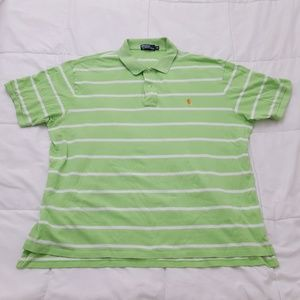 Polo Ralph Lauren Polo Shirt Mens 3XB Green Stripe
